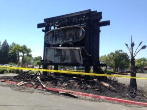 Plaza Sign Destroyed