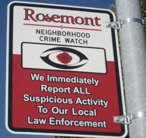 Neighborhood Watch Signs Available